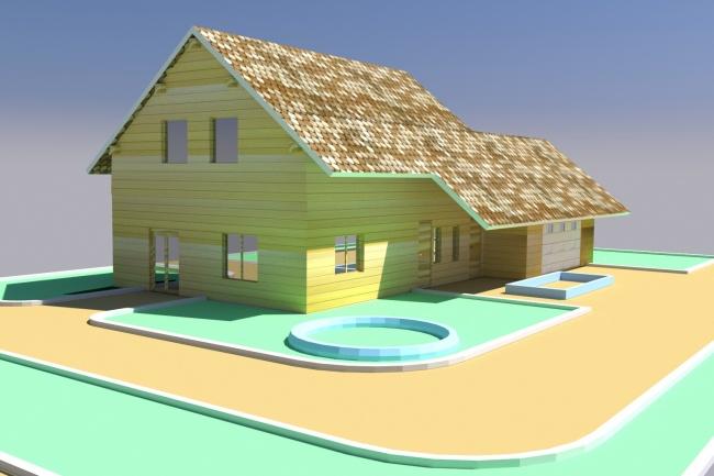 Сделаю 3D-визуализацию, моделированиеМебель и дизайн интерьера<br>Моделирование и визуализация экстерьеров. Позволит еще до постройки определится с выбранными материалами и расположением на участке. Моделирую по планам, эскизам и фотографиям в 3d max.<br>