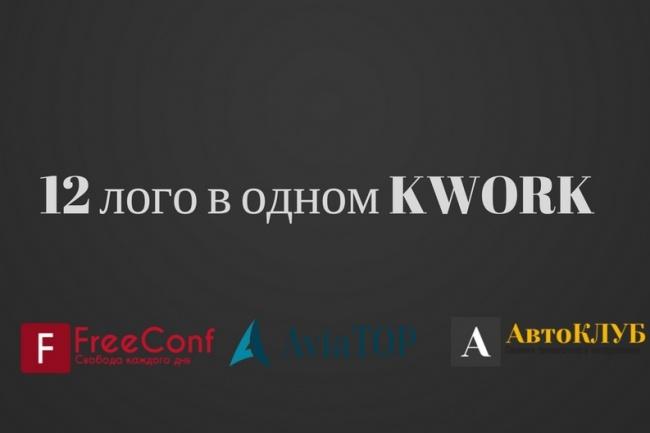 12 вариантов логотипов в png для дальнейшей отрисовки 1 - kwork.ru