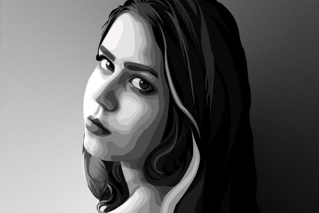 Нарисую векторный портрет по фотографии 1 - kwork.ru