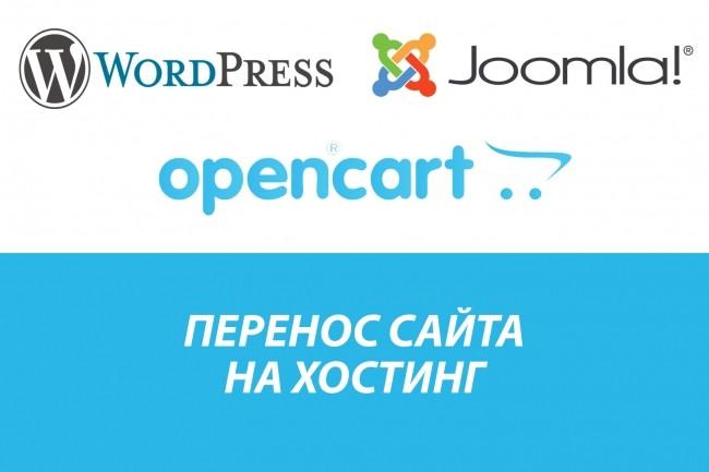 Установка, перенос сайта на хостинг. CMS Wordpress, Opencart, Joomla 1 - kwork.ru
