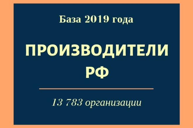 База производителей РФ 1 - kwork.ru