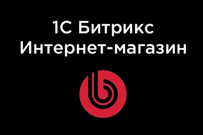 Создание интернет-магазина на 1с Битрикс 1 - kwork.ru