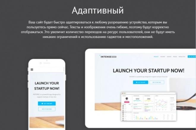 Шаблон посадочной страницы бизнес тематики 1 - kwork.ru