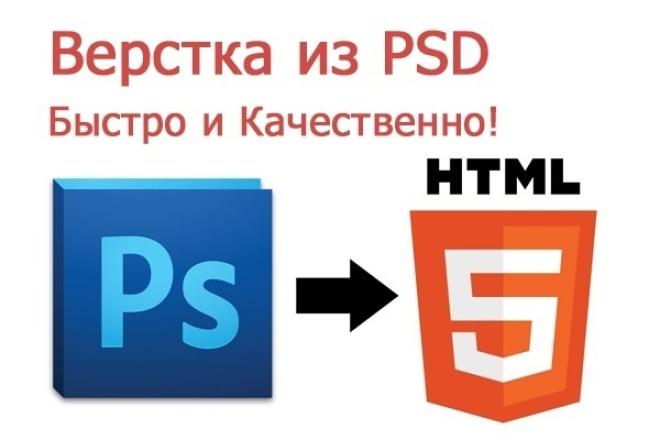 Верстка сайта с psdВерстка и фронтэнд<br>Крепкие знания по html, css, javascript, bootstrap. Постараюсь в максимально короткие сроки сделать качественную верстку!<br>