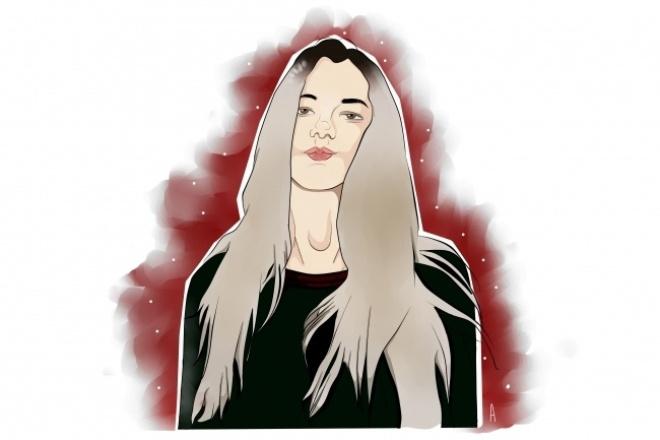 Нарисую портрет в векторе 1 - kwork.ru