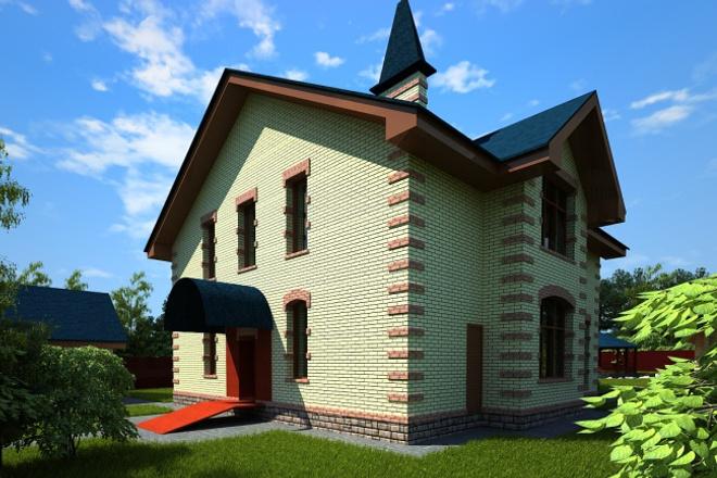 Создам архитектурную визуализацию по готовой модели с одного ракурса 1 - kwork.ru
