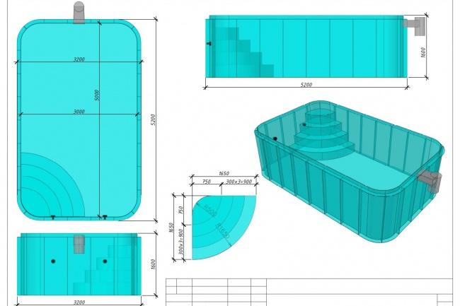 Проект бассейна из рулонных материаловИнжиниринг<br>Создам проект бассейна или другой конструкции для разных применений и назначений из рулонных материалов ( полипропилен ). Создам раскрой материала, пошаговую инструкцию по сборке и пайке.<br>