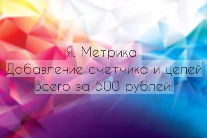 Установлю метрику на Ваш сайт, настрою цели 1 - kwork.ru