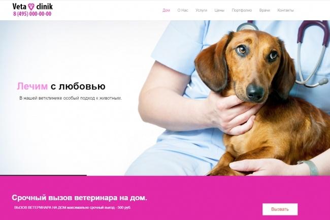 Готовый Landing Page Ветеринарной клиники 36 - kwork.ru