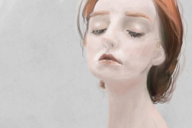 Нарисую портретИллюстрации и рисунки<br>Рисую ваш портрет в реалистичном стиле. Пример моей работы вы можете видеть на заглавной картинке. Рисую в программе Paint tool sai в разрешении 800 х 900 пикс и в любом формате на ваше предпочтение. Работаю в течение 2-3 дней. Могу отправить видеозапись с экрана - вся работа в Сае записывается и отправляется вам (за дополнительную плату).<br>