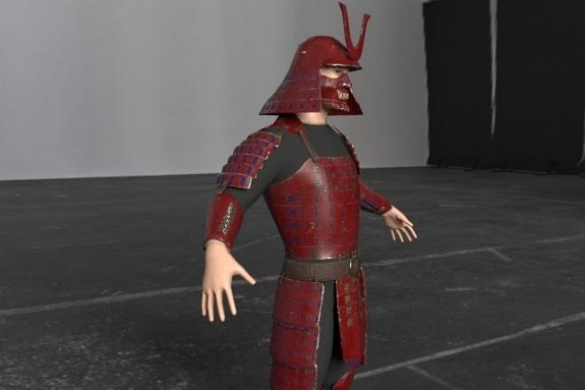 Создам 3d модель персонажаФлеш и 3D-графика<br>Создам 3d модель персонажа, ретопология, развертка, запекание карт, текстуринг. За один кворк будет слеплена модель без высокой степени детализации по заданному референсу<br>