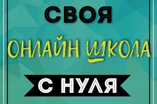 Онлайн курс по созданию своей онлайн школы. С нуля 1 - kwork.ru