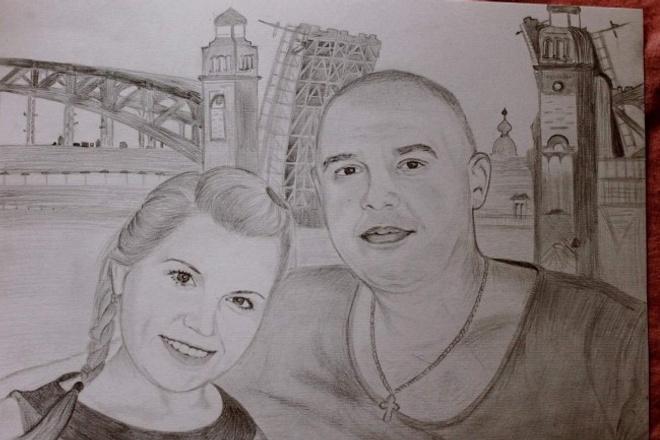 Сделаю портрет по фото карандашом 1 - kwork.ru
