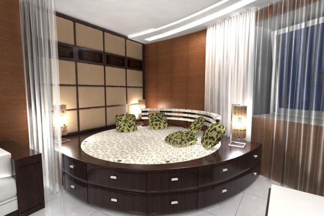 Интерьер спальни, гостиной 1 - kwork.ru