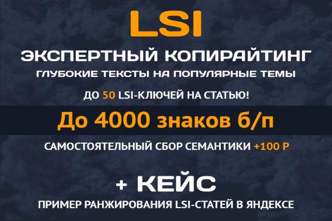 Напишу информационную LSI-статью на 50 ключей + ваш кластер СЯ 1 - kwork.ru