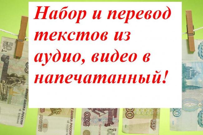 Набор и перевод текстов 1 - kwork.ru