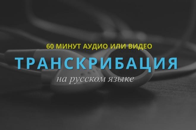 Аудио-видео в текст 1 - kwork.ru