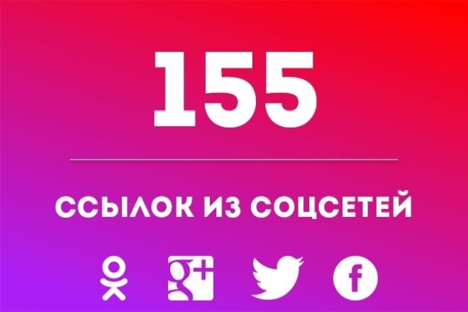 155 ссылок из социальных сетей 1 - kwork.ru