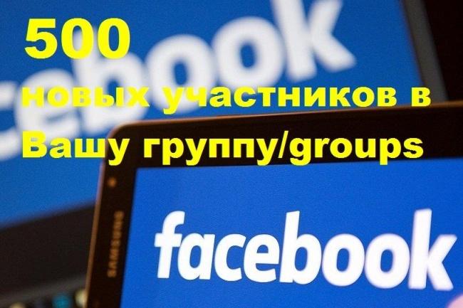 500 новых участников в Вашу группу Facebook через приглашенияПродвижение в социальных сетях<br>Группы имеющие внушительное количество участников, вызывают больше доверия и желания присоединиться, чем группы с малой численностью. Я добавлю 500 новых участников в Вашу группу Facebook. Участники будут добавляться через приглашение друзей в Вашу группу. Такой способ увеличения количества участников, абсолютно безопасен для продвижения групп Facebook. Аудитория качественная, все участники русскоязычные. внимание! После оформления и оплаты заказа, в вашу группу Facebook, сначала придут около 5-10 заявок - Вы, должны обязательно принять их в группу! ! ! А далее уже начнется добавление друзей в Вашу группу, с большей скоростью. Процент отписок - не более 2% Внимание! Данная услуга действует только для групп, то есть в ссылке на Вашу группу должно присутствовать слово groups Если у Вас, не группа, а публичная страница (фанпейдж) - подобная услуга предоставляется в другом моём кворке - 250 лайков (подписчиков) на паблик Fanpage (по критериям).<br>