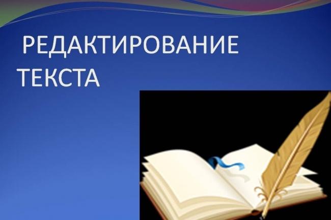 Редактирование и корректировка текстов любой сложности 1 - kwork.ru