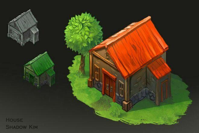 Домики для мобильных игр 1 - kwork.ru