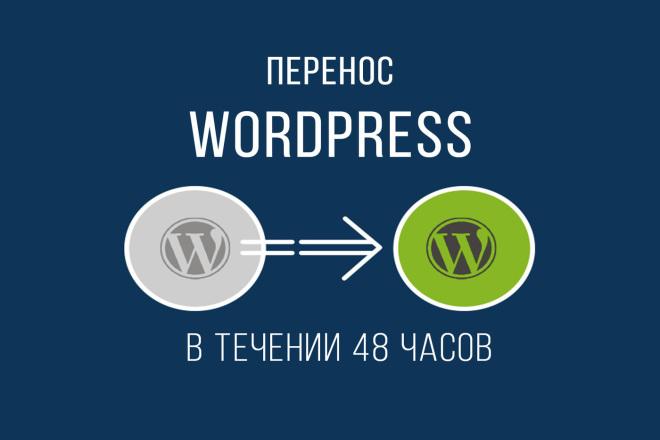 Перенос сайта Wordpress на другой хостинг 1 - kwork.ru