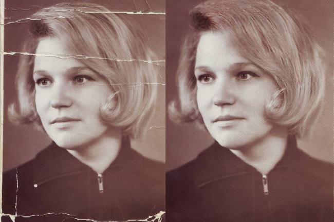 Реставрация фотоОбработка изображений<br>Занимаюсь этим профессионально уже более 7 лет! Отреставрирую три старые фотографии, доработаю по желанию клиента что угодно. Уберу трещины, пыль, царапины. Уберу выцветшие участки.<br>