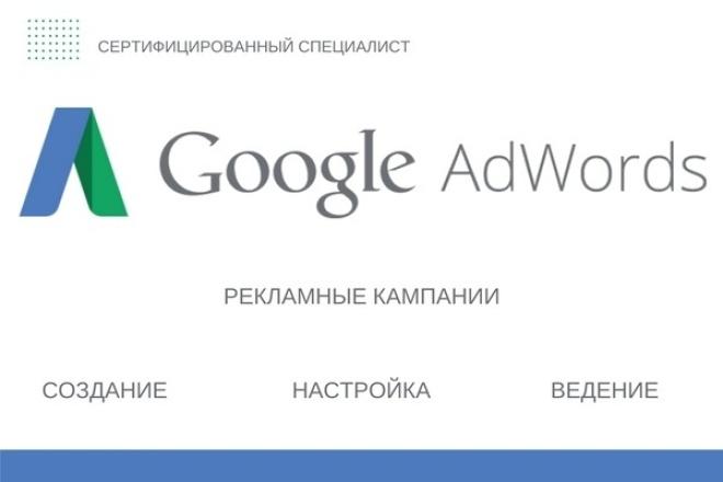 Создание и настройка контекстной рекламы в Google Adwords 1 - kwork.ru