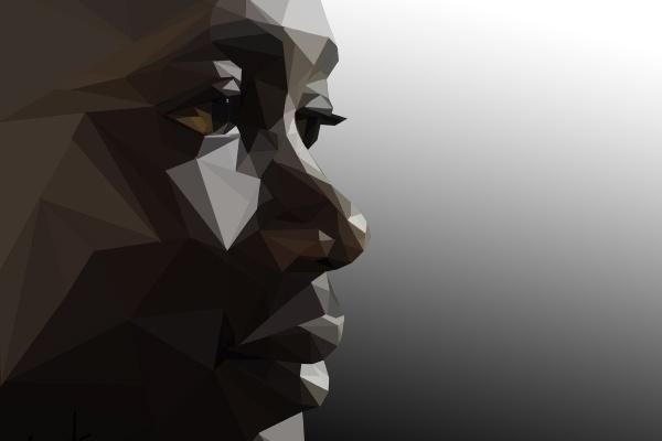 Рисунок в стиле polygonal art 1 - kwork.ru