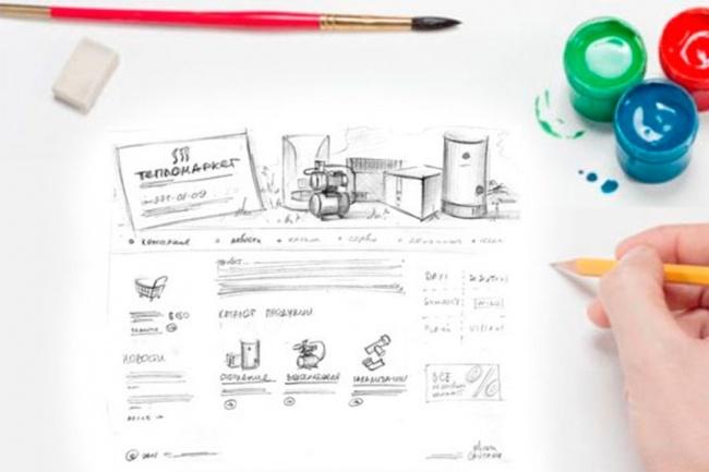 Дизайн сайтов 1 - kwork.ru