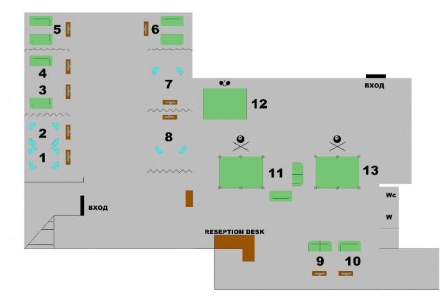 Выполню схему внутреннего расположения. Кафе и офисы 1 - kwork.ru