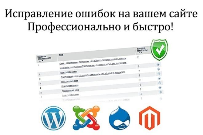 Доработаю или внесу изменения в Ваш сайтДоработка сайтов<br>Доработаю сайт, исправлю ошибки! Доработаю или внесу изменения в Ваш сайт на cms WordPress. Что имеется ввиду: - доработаю функционал сайта; - установлю и настрою плагины; - изменю структуру сайта; - поработаю с внешним видом сайта;<br>