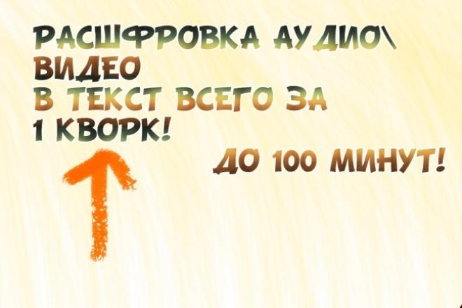 Транскрибация аудио и видео в текст 1 - kwork.ru