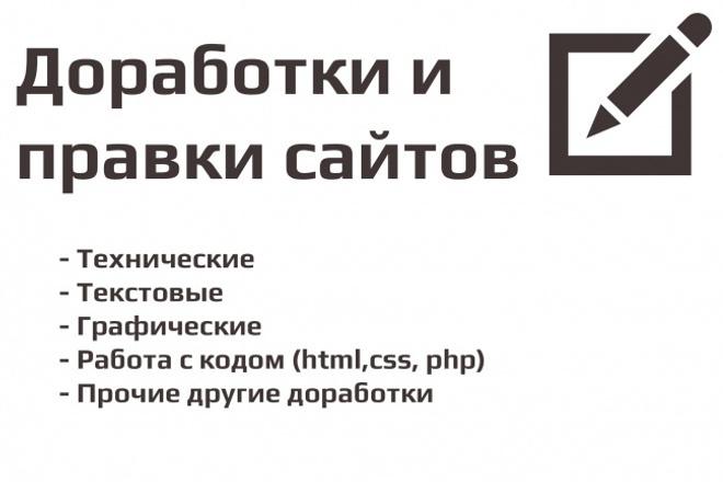 Доработка, изменение сайта 1 - kwork.ru
