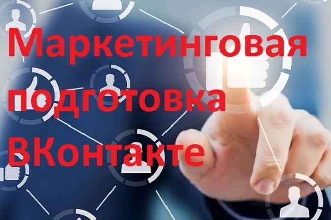Маркетинговая подготовка ВКонтакте 1 - kwork.ru