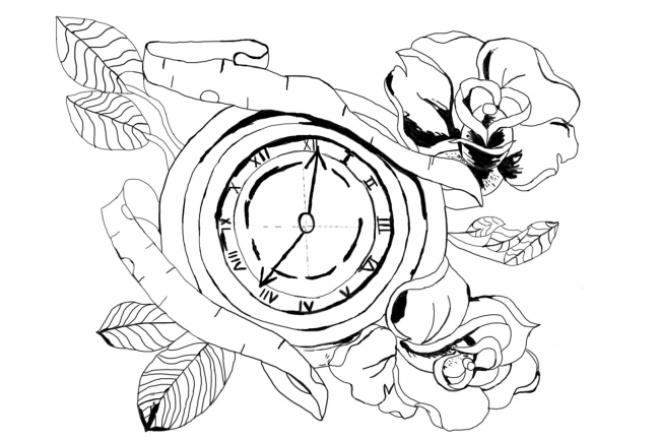 Эскиз татуировкиИллюстрации и рисунки<br>Нарисую несложную татуировку. Возможно детально обсудить ваши идеи и то, каким вы хотите видеть ваш эскиз.<br>