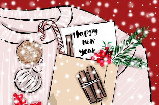 Новогодняя открытка 1 - kwork.ru