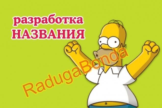 Разработаю имя для вашей компании. Нейминг 1 - kwork.ru