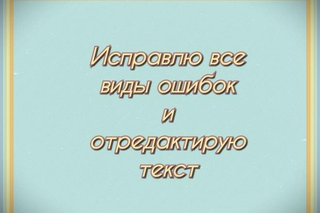 Профессионально исправлю все виды ошибок и отредактирую текст 1 - kwork.ru