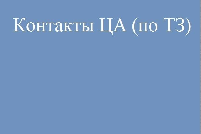 Предоставлю контакты ЛПР ЦА согласно ТЗ 1 - kwork.ru
