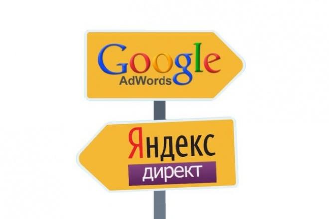 Настройка метрики и рекламных компаний в Я Директе и adwords 1 - kwork.ru