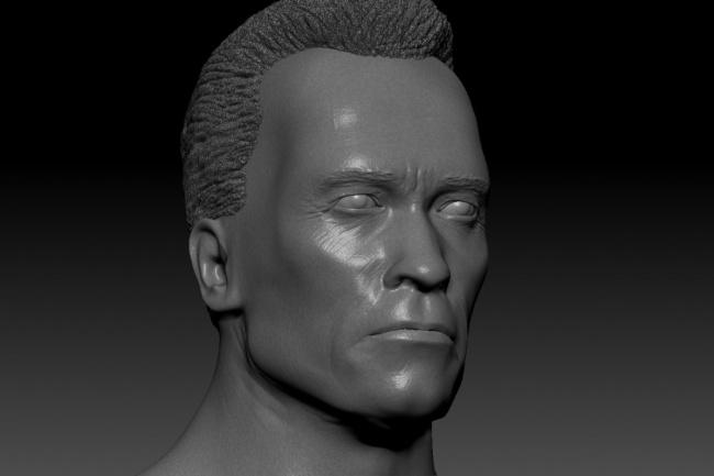 Создание 3D портрета по фото 1 - kwork.ru