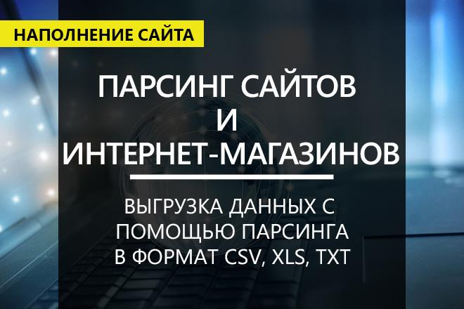 Парсинг интернет-магазинов, импорт товаров в CMS 1 - kwork.ru