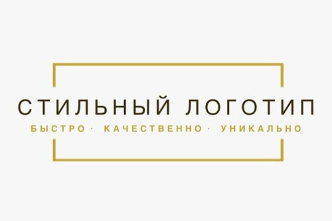 Стильный логотип 18 - kwork.ru