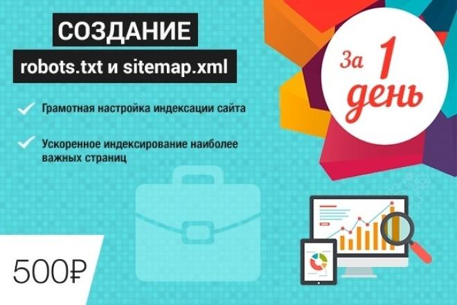 Создание и настройка sitemap.xml   и Robots.txt для Вашего сайта 1 - kwork.ru