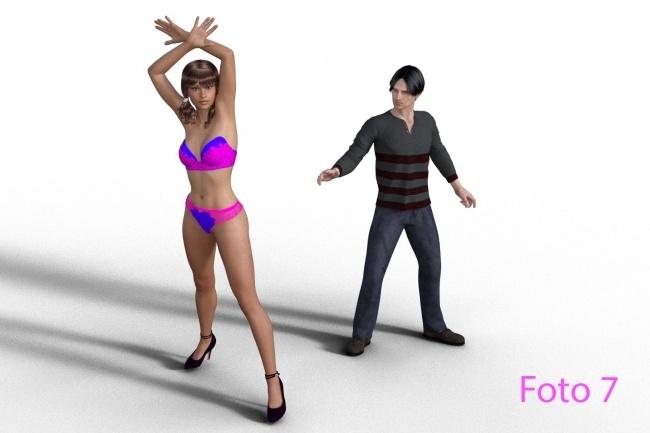 Создам анимационный ролик с персонажем Genesis 8 от DAZВидеоролики<br>В базовом варианте (без опций) я предлагаю сделать пятисекундное видео 2к (1920х1080) с одним персонажем genesis - фото 2 или 3 . Варианты стандартной одежды и причесок на фото 4, 5 и 6. Наборы движений лучше использовать от Mixamo компании Adobe - фото 1. От вас потребуется сделать скриншот и отметить на нем нужную анимацию.<br>
