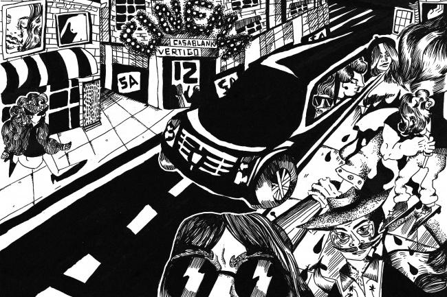Нарисую черно-белую иллюстрацию в авторском стиле 1 - kwork.ru