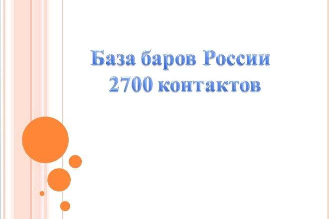 База баров России 1 - kwork.ru