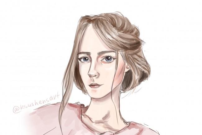 Нарисую портрет по Вашей фотографии 1 - kwork.ru