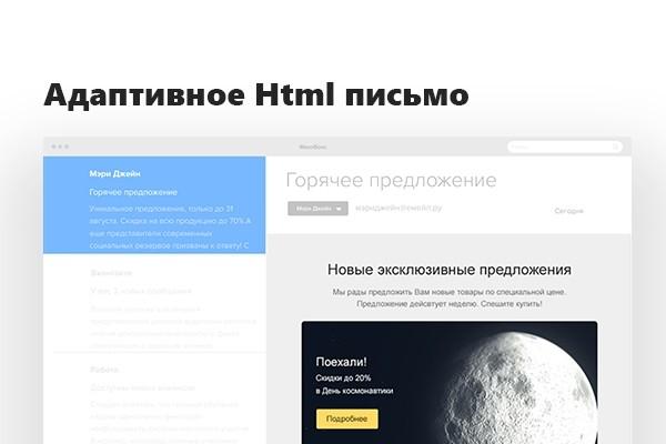 Адаптивное Html Email письмо. Дизайн и Верстка 1 - kwork.ru